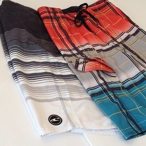 😎 'O'Neill & Quicksilver' (2) pr. Boarding Shorts